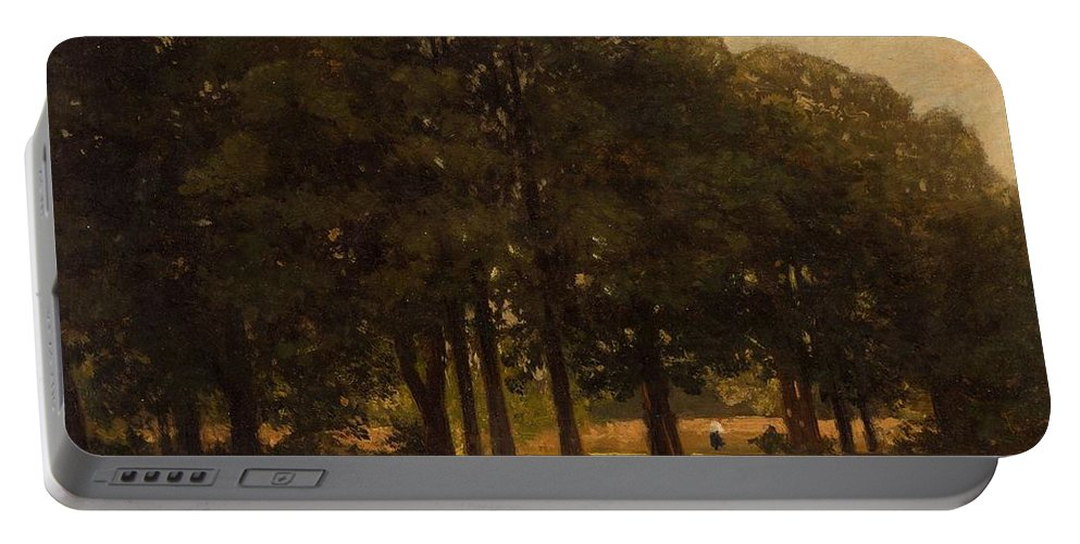 Nature Portable Battery Charger featuring the painting Vladimir Donatovich Orlovsky Russian 1842 1914 Summer Landscape by Artistic Panda
