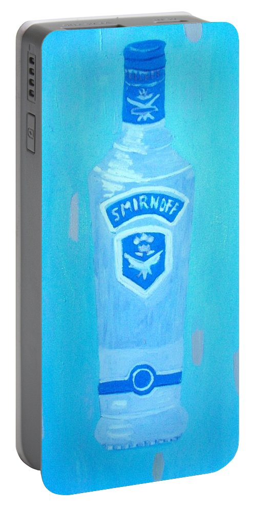 Pop Art Portable Battery Charger featuring the painting Vodka by Patrice Tullai