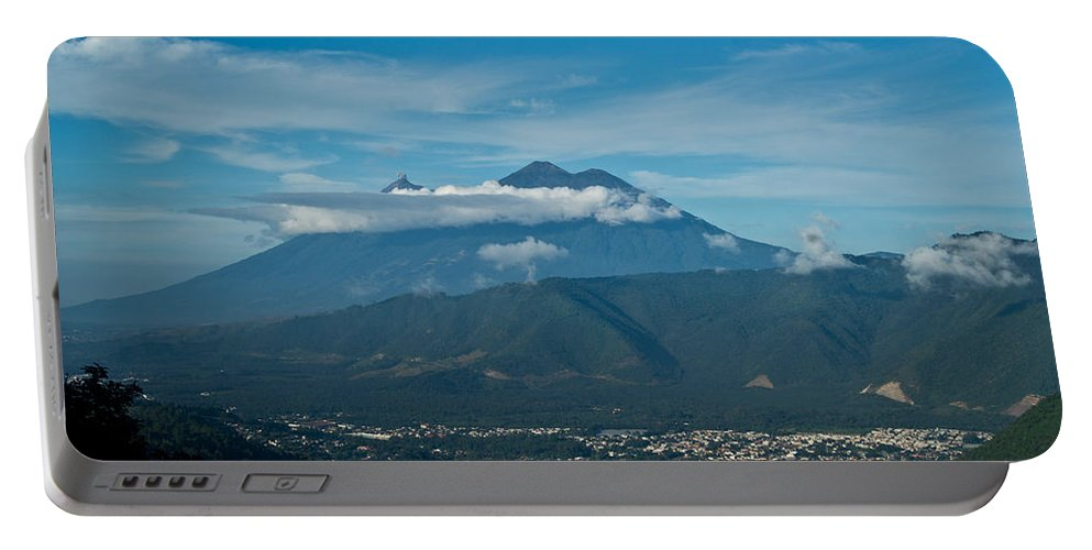 Volc�n De Agua Portable Battery Charger featuring the photograph Volcan De Agua Antiqua Gutemala 5 by Douglas Barnett