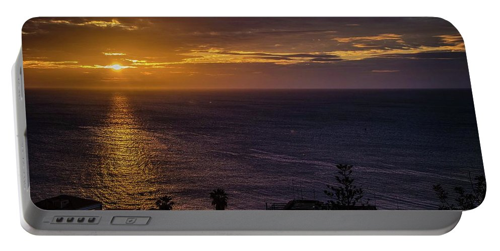 Sunrise Portable Battery Charger featuring the photograph Volcanic Sunrise by Larkin's Balcony Photography