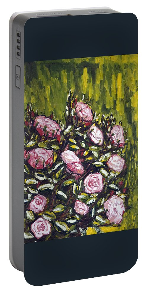 Landscape Portable Battery Charger featuring the painting Vonave Ruze by Pablo de Choros