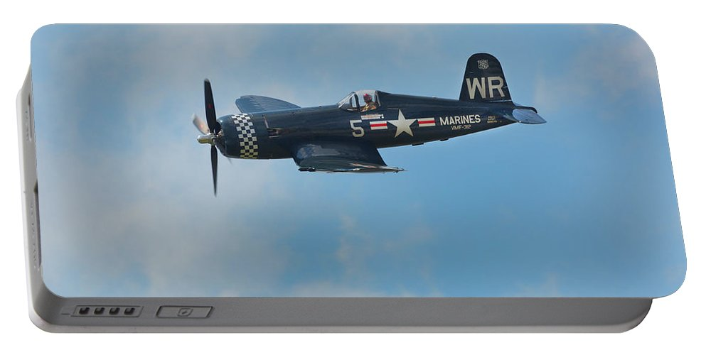 Vought F4u-5 Corsair Portable Battery Charger featuring the photograph Vought F4u-5 Corsair by Bruce Beck