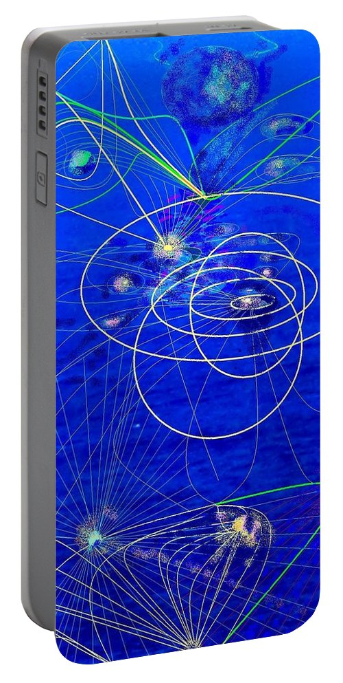 Abstract Portable Battery Charger featuring the digital art Voyage by Ian MacDonald