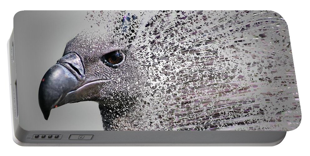 Vulture Portable Battery Charger featuring the photograph Vulture Break Up by Martin Newman