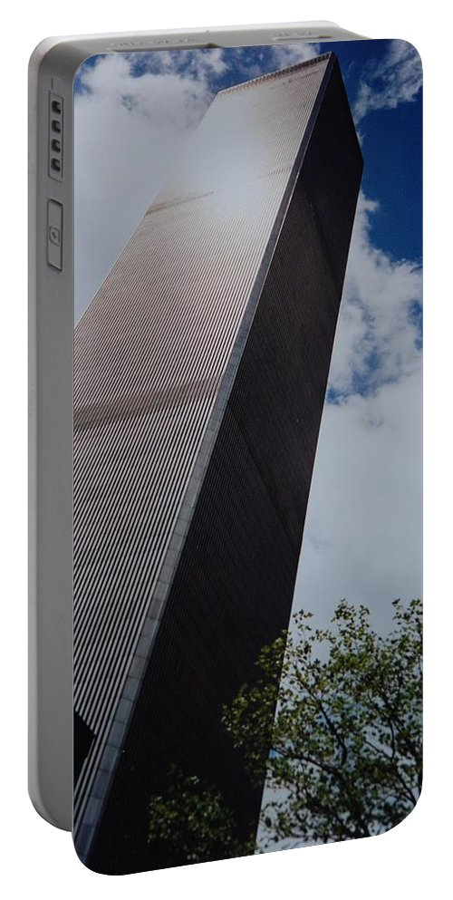 Wtc Portable Battery Charger featuring the photograph W T C 1 And 2 by Rob Hans