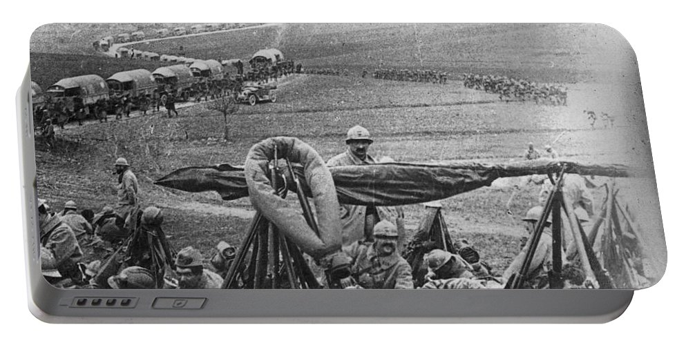 1916 Portable Battery Charger featuring the photograph W W I: Battle Of Verdun by Granger