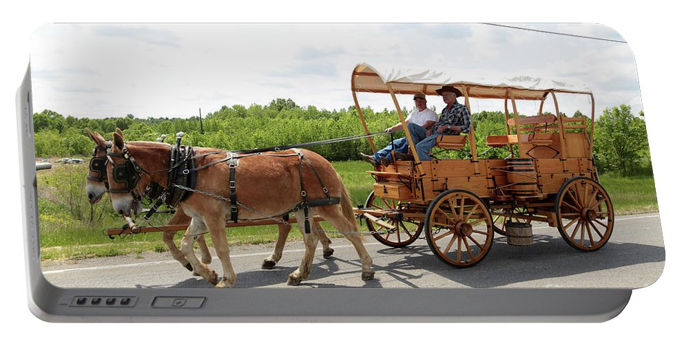 Mule Portable Battery Charger featuring the photograph Wagon 13 by Dwight Cook