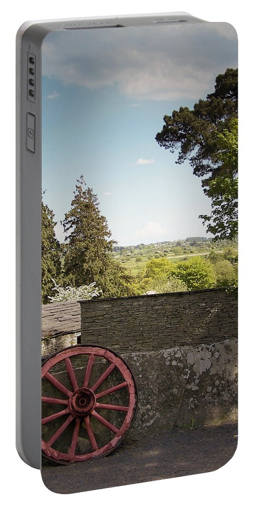 Irish Portable Battery Charger featuring the photograph Wagon Wheel County Clare Ireland by Teresa Mucha