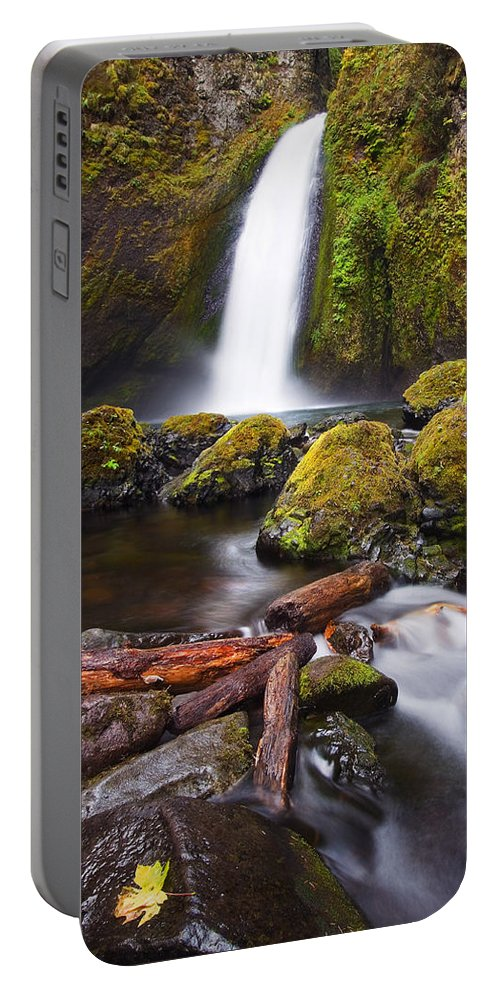 Waterfall Portable Battery Charger featuring the photograph Wahclella by Mike Dawson