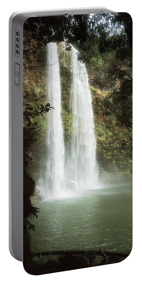 Waterfall Portable Battery Charger featuring the photograph Wailua Falls 3 by Michael Peychich