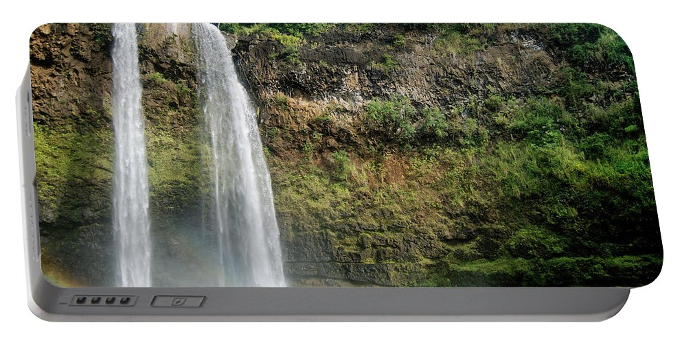 Landscape Portable Battery Charger featuring the photograph Wailua Falls0 919 by Michael Peychich