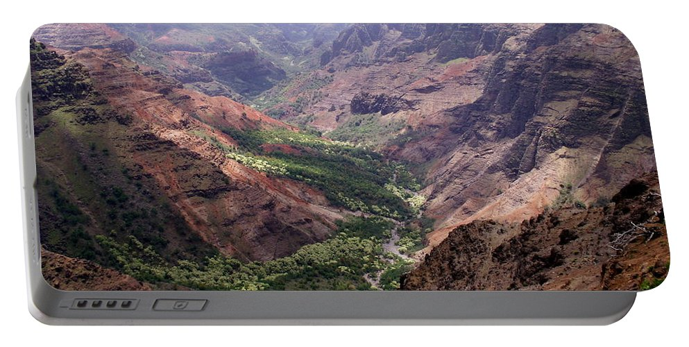 Waimea Portable Battery Charger featuring the photograph Waimea Canyon 1 by Amy Fose