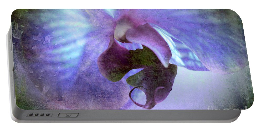 Orchid Portable Battery Charger featuring the digital art Wait For Me by Krissy Katsimbras