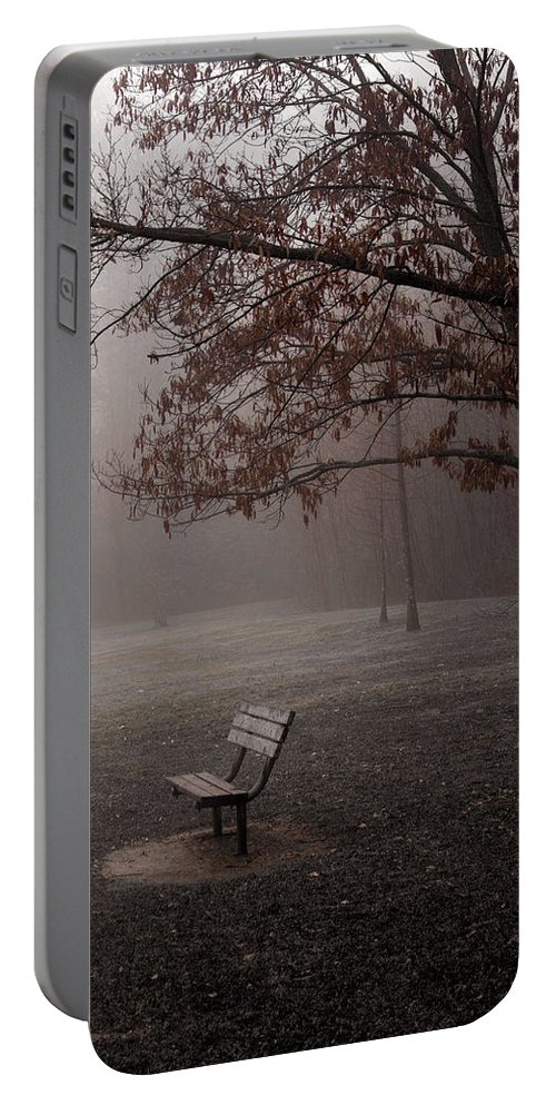 Bench Portable Battery Charger featuring the photograph Waiting by Ayesha Lakes