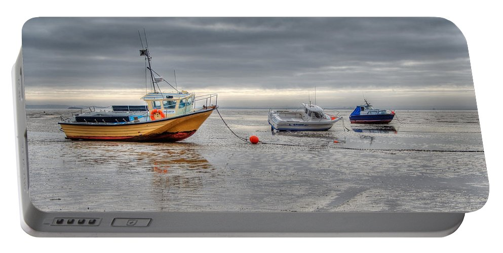 Boats Portable Battery Charger featuring the photograph Waiting by Chris Thaxter