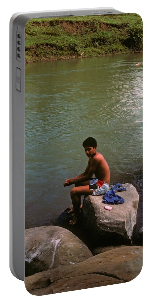 Belize Portable Battery Charger featuring the photograph Waiting For A Fish by Gary Wonning