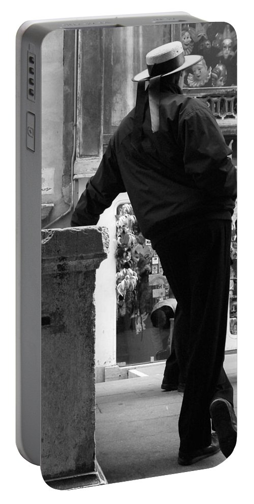 Venice Portable Battery Charger featuring the photograph Waiting For Business by Donna Corless