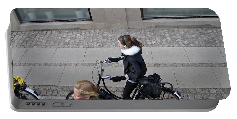 Copenhagen Portable Battery Charger featuring the photograph Waiting For The Light by Kat Cortez