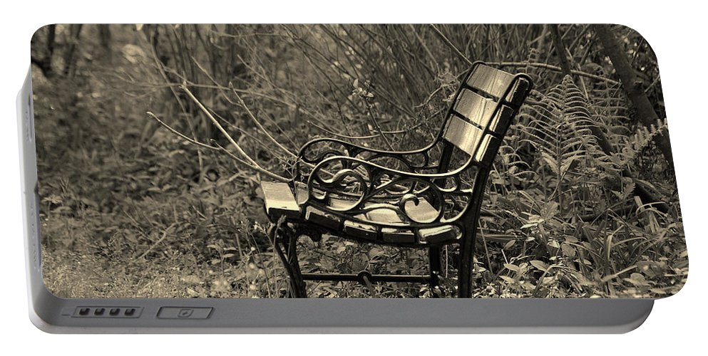 Bench Portable Battery Charger featuring the photograph Waiting For You by Susanne Van Hulst