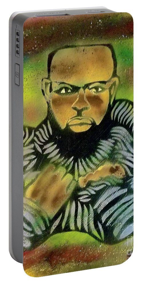 Comic Book Art Portable Battery Charger featuring the painting Wakabi Panther Pride by Tony B Conscious