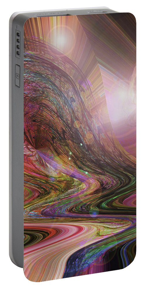 Dream Art Portable Battery Charger featuring the digital art Wake Up And Dream by Linda Sannuti
