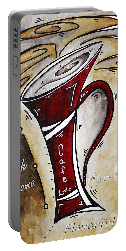 Food Portable Battery Charger featuring the painting Wake Up Call By Madart by Megan Duncanson
