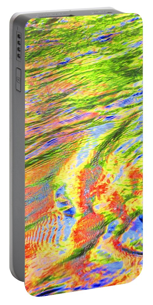 Abstract Portable Battery Charger featuring the photograph Walk In Glory by Sybil Staples