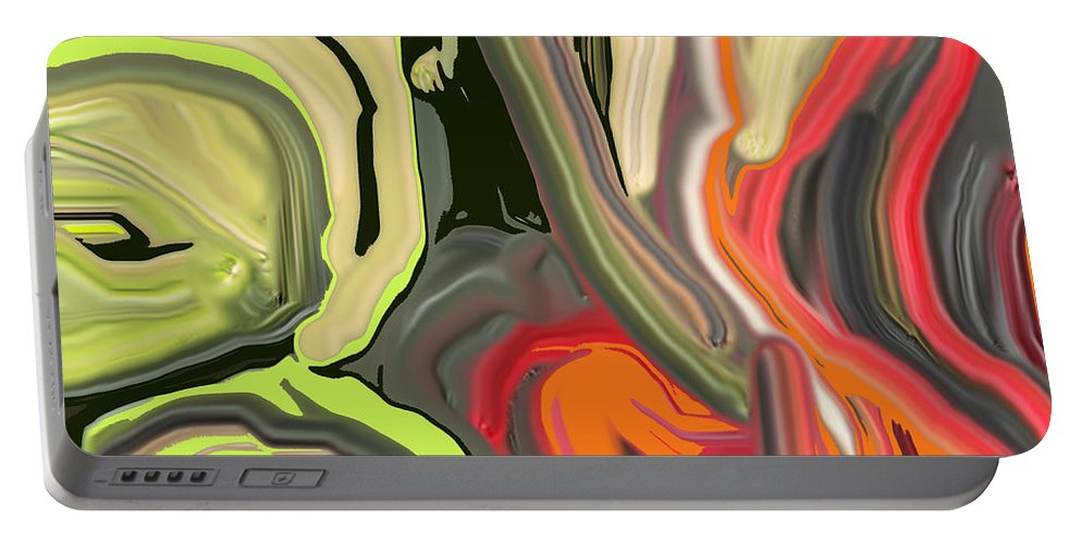 Abstract Portable Battery Charger featuring the digital art Walk In The Park by Ian MacDonald