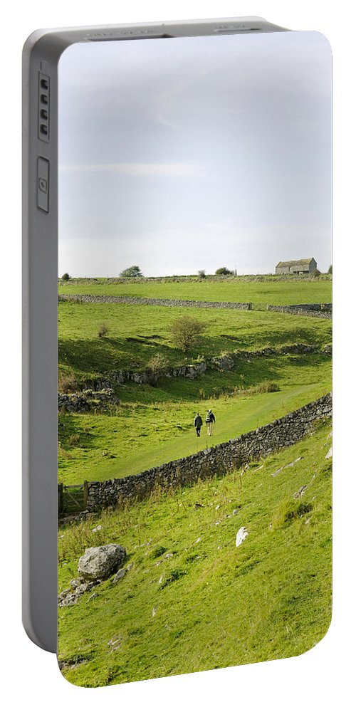 Lathkill Dale Portable Battery Charger featuring the photograph Walkers At Lathkill Dale by Rod Johnson
