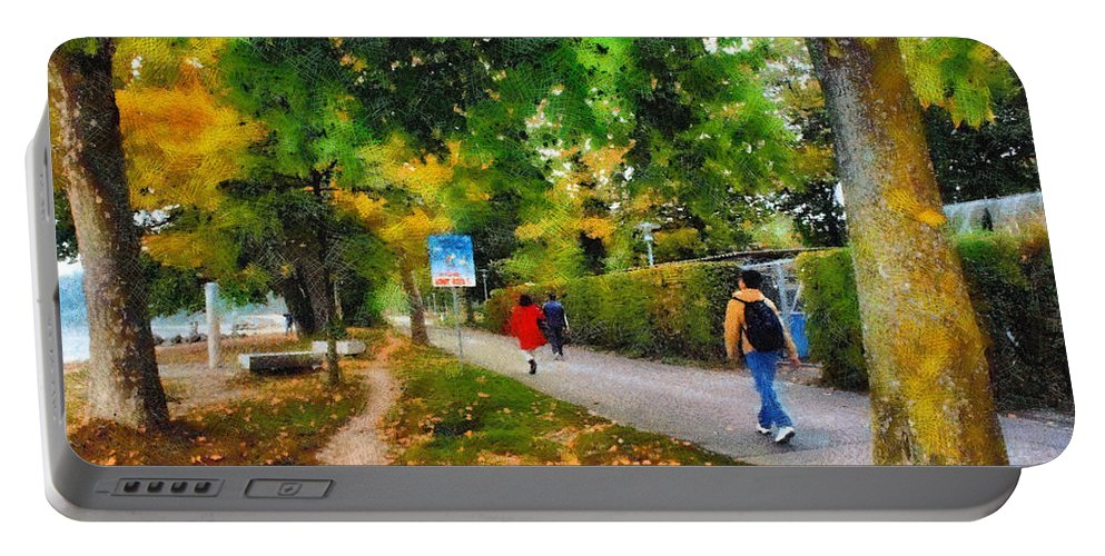 Beautiful Portable Battery Charger featuring the photograph Walking On A Beautiful Path by Ashish Agarwal