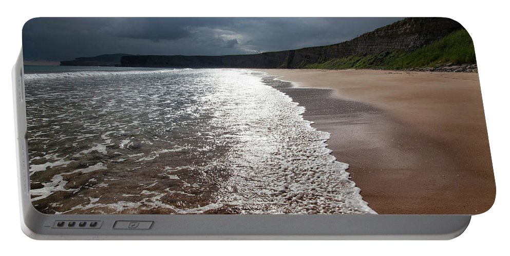 Beach Portable Battery Charger featuring the photograph Walking On The Beach by Contemporary Art