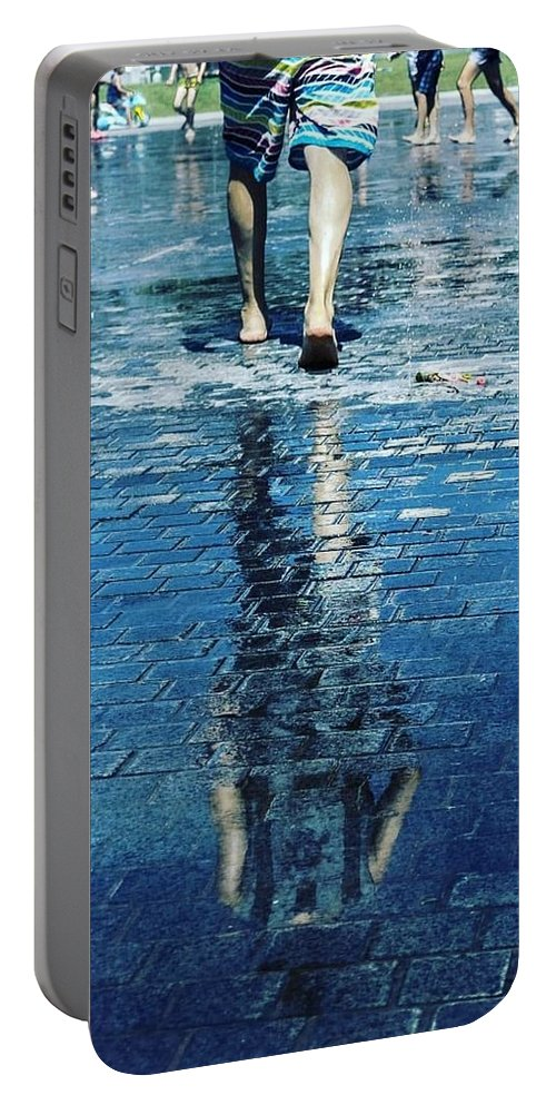 Man Portable Battery Charger featuring the photograph Walking On The Water by Nerea Berdonces Albareda