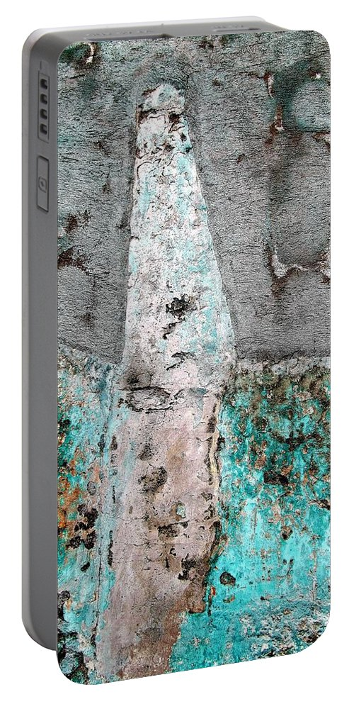Texture Portable Battery Charger featuring the photograph Wall Abstract 118 by Maria Huntley