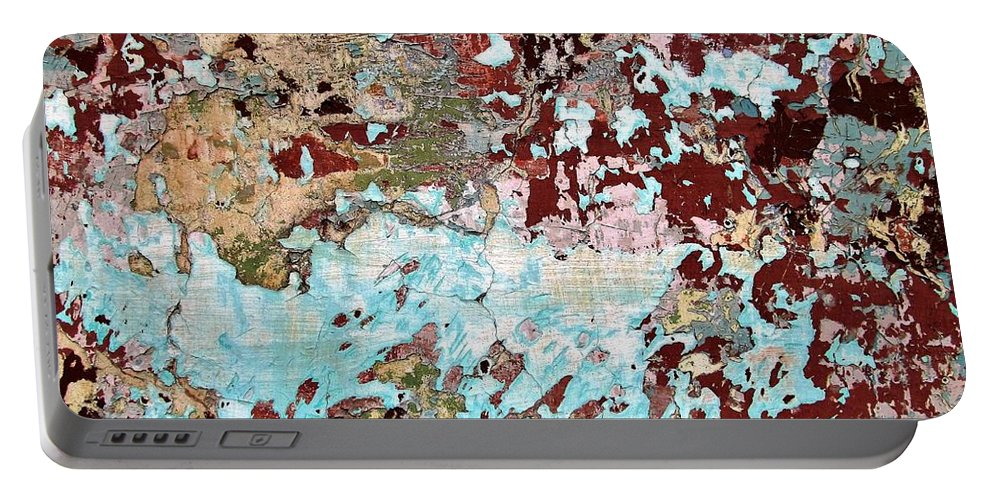 Texture Portable Battery Charger featuring the photograph Wall Abstract 128 by Maria Huntley
