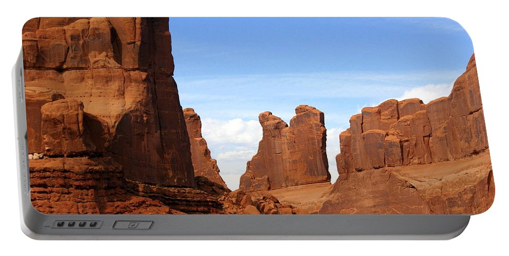 Southwest Art Portable Battery Charger featuring the photograph Wall Street by Marty Koch