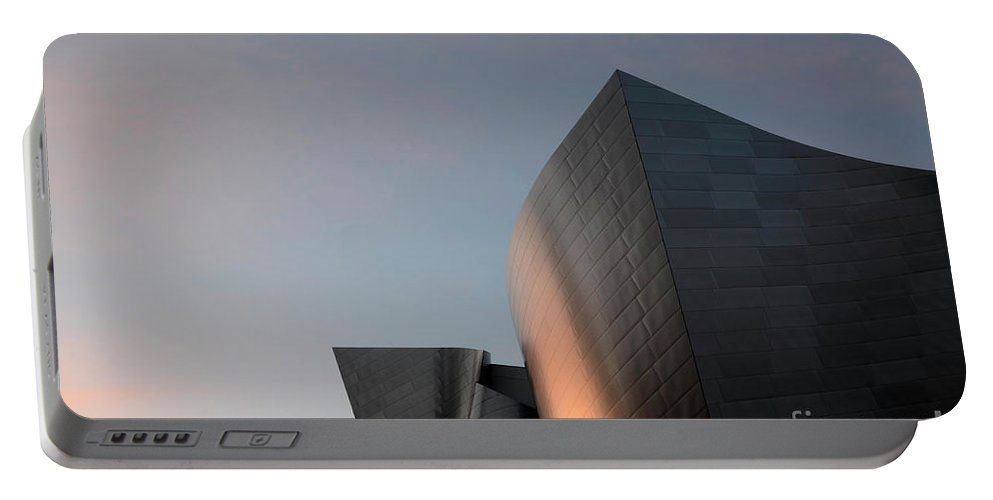 Disney Portable Battery Charger featuring the photograph Walt Disney Concert Hall 18 by Bob Christopher
