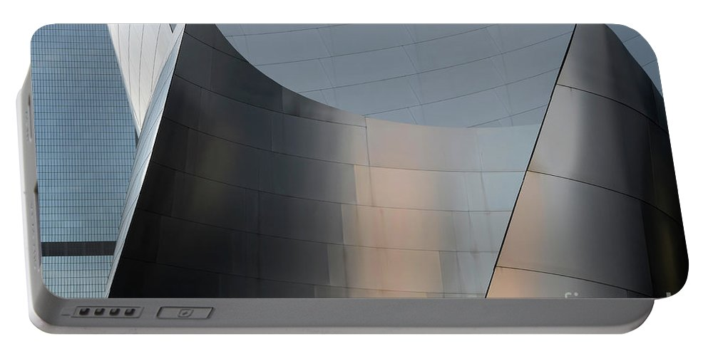 Disney Portable Battery Charger featuring the photograph Walt Disney Concert Hall 23 by Bob Christopher