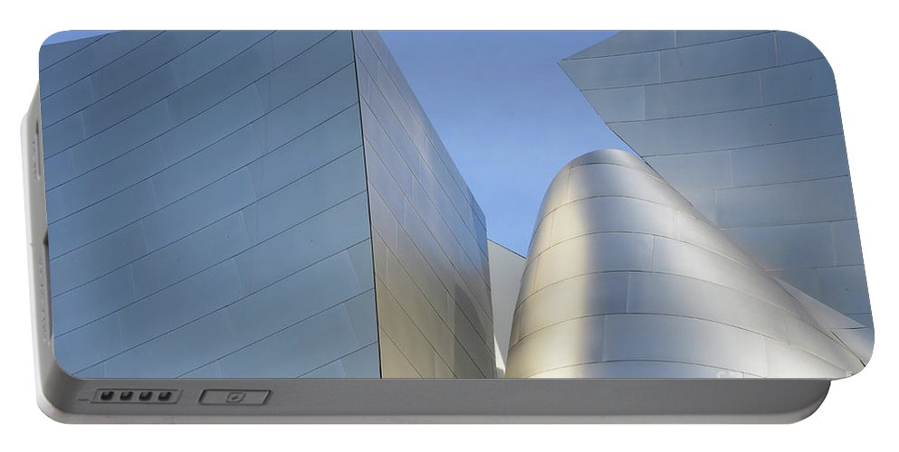 Disney Portable Battery Charger featuring the photograph Walt Disney Concert Hall 7 by Bob Christopher