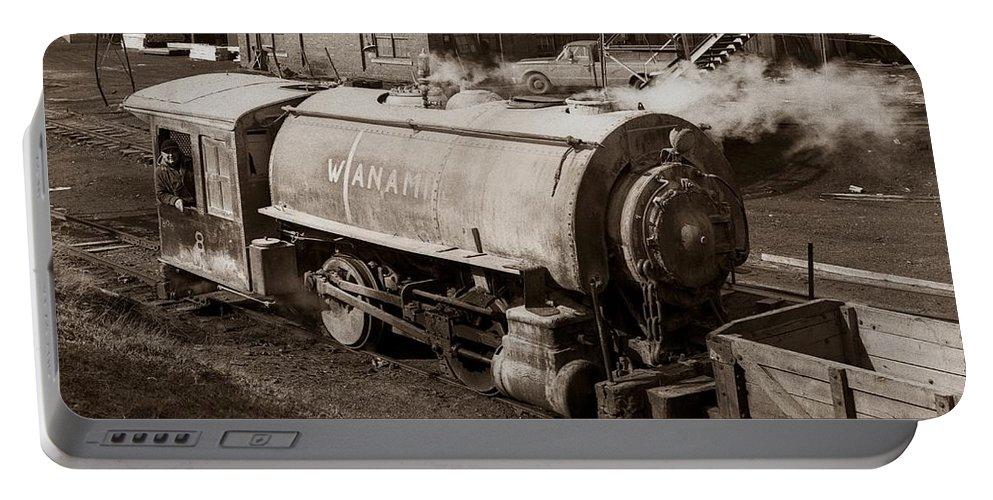 Wanamie Portable Battery Charger featuring the photograph Wanamie Pennsylvania Coal Mine Locomotive Lokey 1969... by Arthur Miller