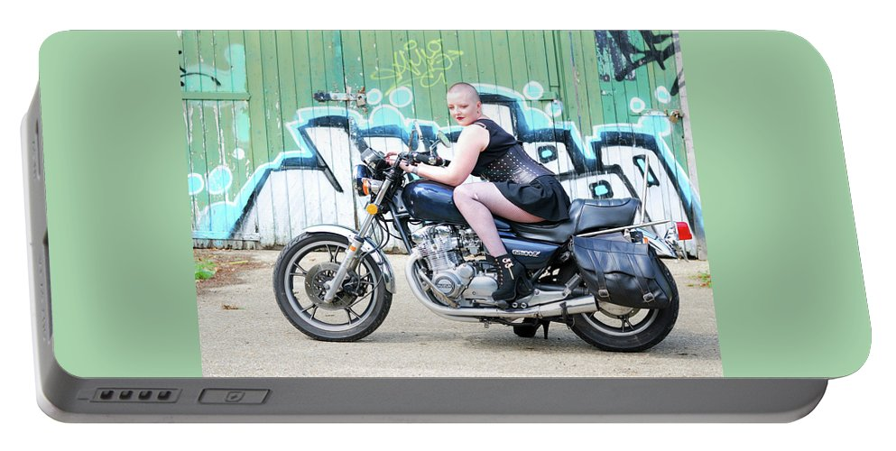 Portable Battery Charger featuring the photograph Wanna Race? by Richard Gibb