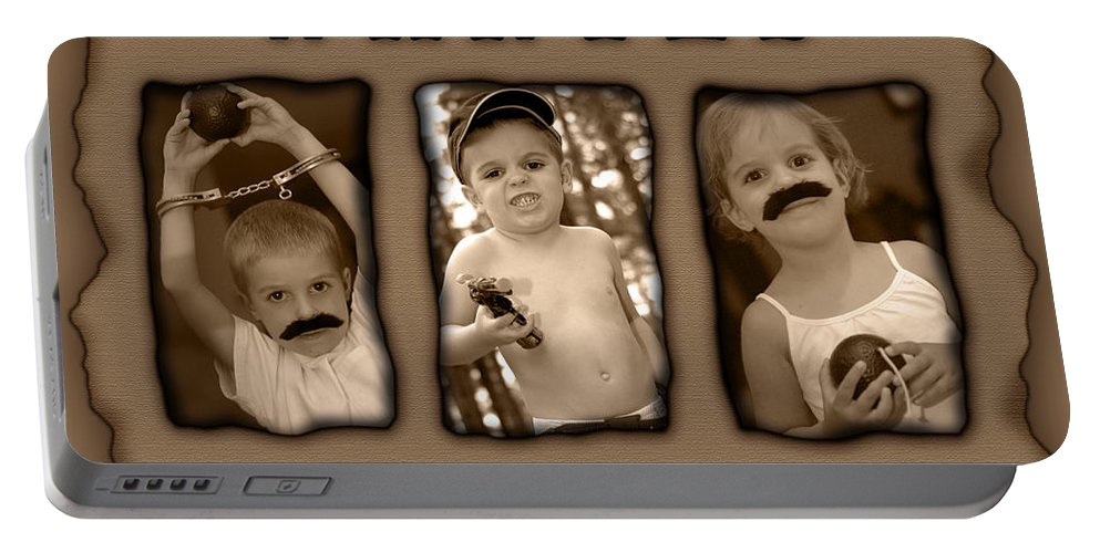 Wanted Portable Battery Charger featuring the photograph Wanted The Outlaw Gang by Jill Reger