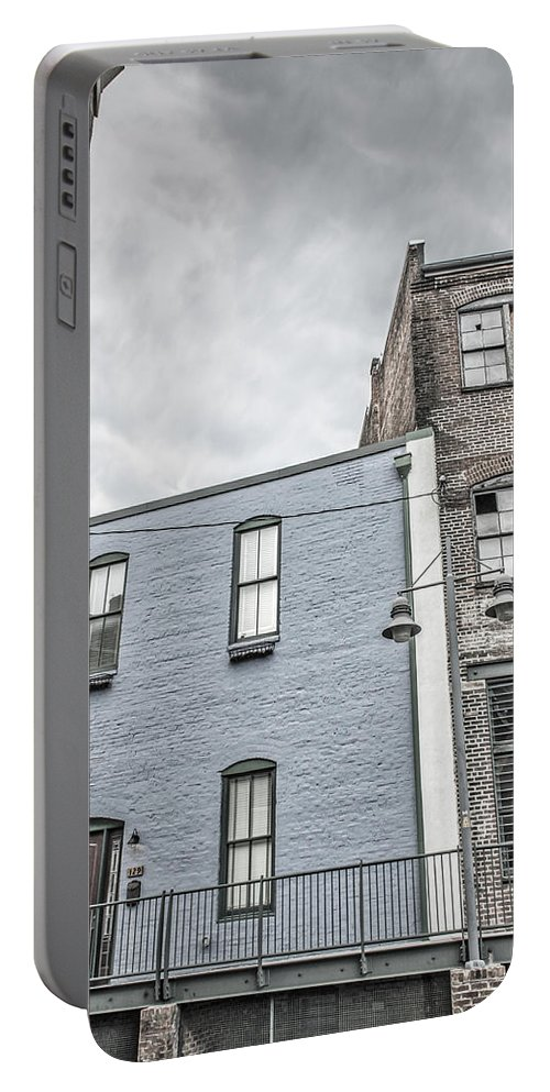 Architecture Portable Battery Charger featuring the photograph Warehouse Row by Jim Love