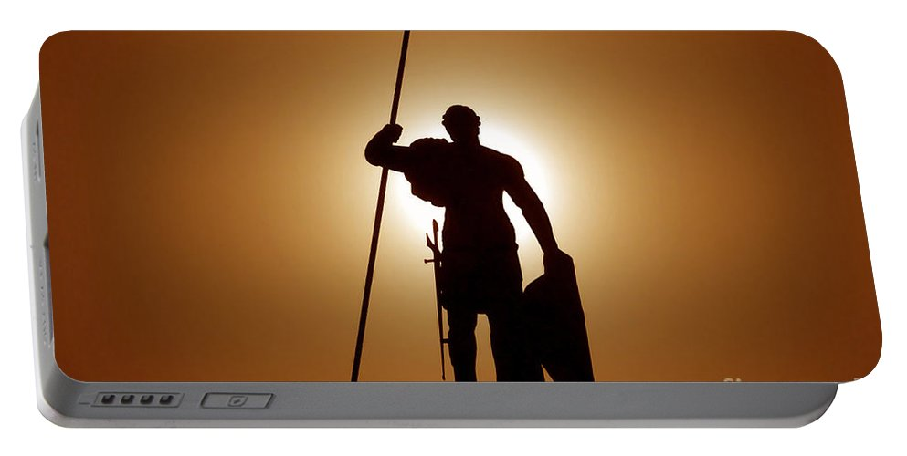 Warrior Portable Battery Charger featuring the photograph Warrior by David Lee Thompson