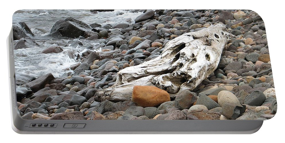 Driftwood Portable Battery Charger featuring the photograph Washed Up by Kelly Mezzapelle