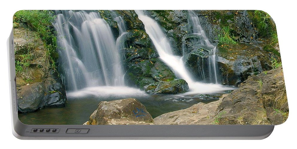 Waterfall Portable Battery Charger featuring the photograph Washington Falls 3 by Marty Koch