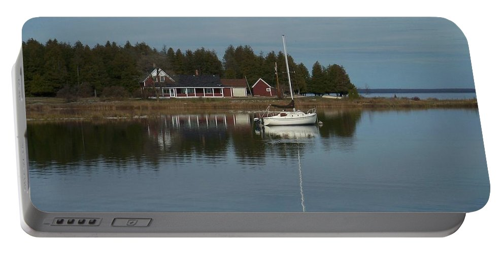 Washington Island Portable Battery Charger featuring the photograph Washington Island Harbor 3 by Anita Burgermeister