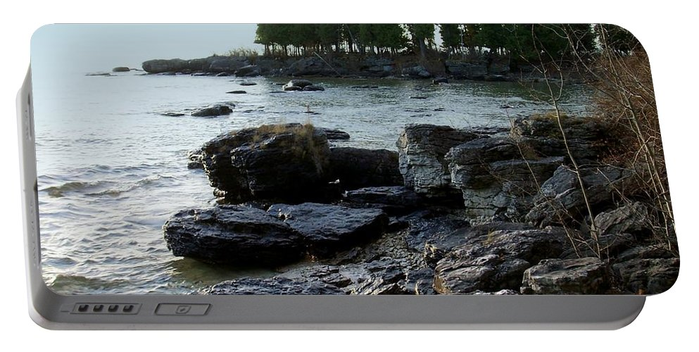 Washington Island Portable Battery Charger featuring the photograph Washington Island Shore 1 by Anita Burgermeister