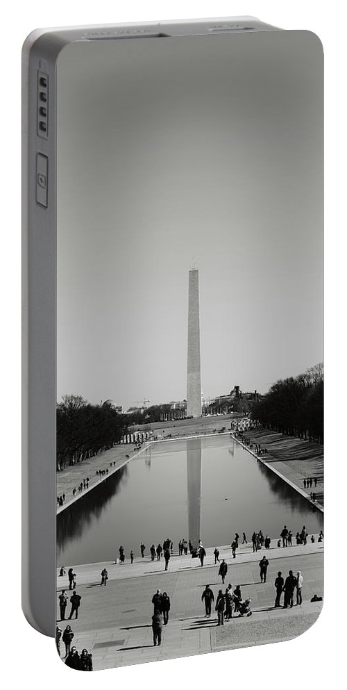 History Portable Battery Charger featuring the photograph Washington Monument In Washington Dc by Brandon Bourdages