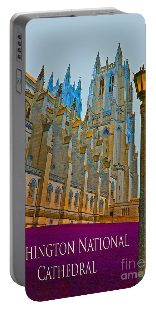 Washington Portable Battery Charger featuring the photograph Washington National Cathedral Travel by Jost Houk
