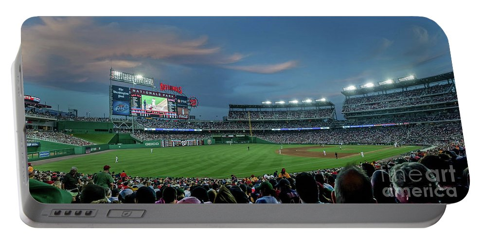 Red Sox Portable Battery Charger featuring the photograph Washington Nationals In Our Nations Capitol by Thomas Marchessault